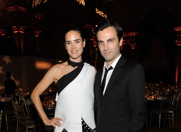 Jennifer Connelly and Nicolas Ghesquiere
