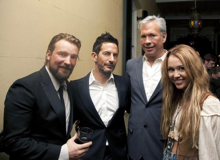 Brian Bowen Smith, Marc Jacobs, Robert Duffy, Miley Cyrus.