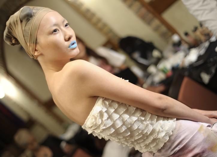 Backstage at Nozomi Ishiguro RTW Spring 2011