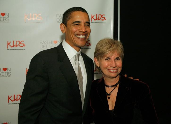 Barack Obama with Karen Bromley at a 2006 event.