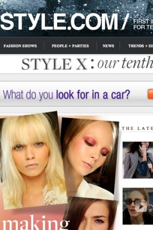 Style.com, now part of the Fairchild Fashion Group, averages around 2 million unique visitors each month and garners nearly 2 billion page views annually.