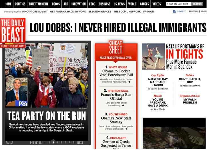 The Daily Beast website.