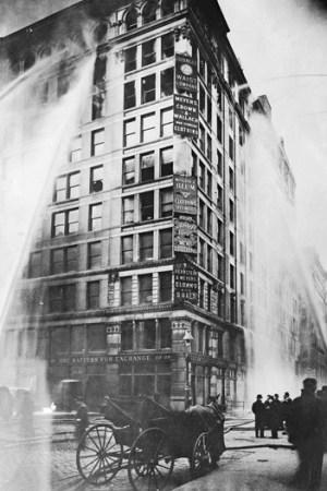 The Triangle Shirtwaist fire, 1911.