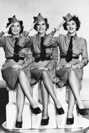 The Andrews Sisters, 1941.