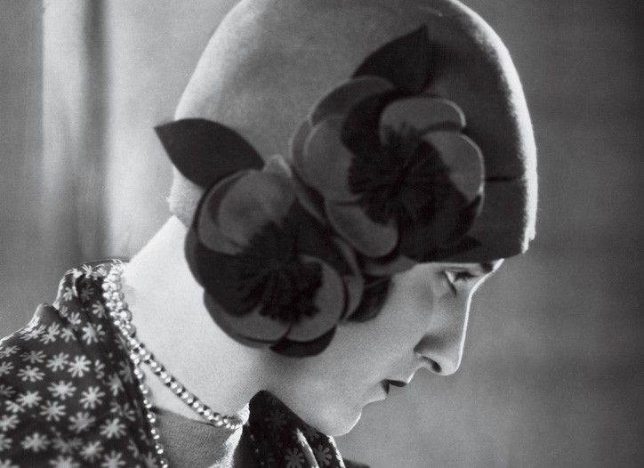 A cloche from 1928, part of the flapper's signature look.