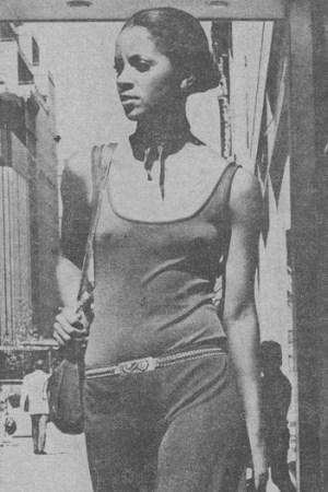 Braless in 1969.