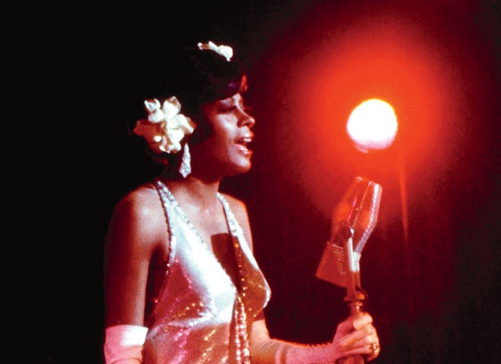 Diana Ross as Billie Holiday in Lady Sings the Blues, 1972, inspired designers.