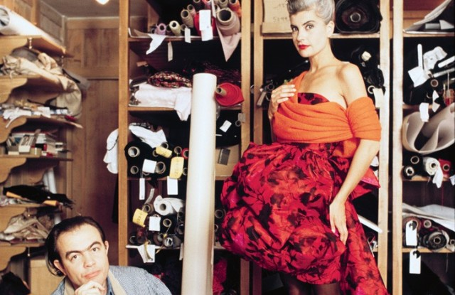 Christian Lacroix and Marie Seznec prepare for fall 1987 couture.