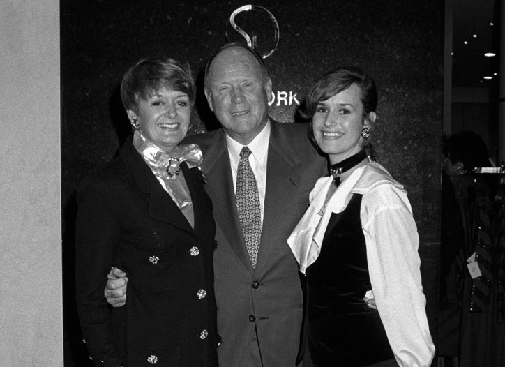 Marie, Robert and Kelly Gray in 1993.