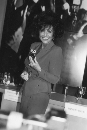Elizabeth Taylor at the White Diamonds launch, 1991.