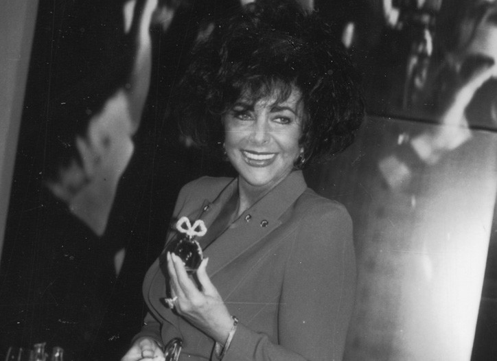Elizabeth Taylor at the White Diamonds launch, 1991.
