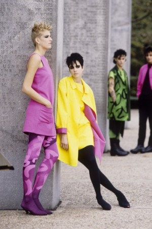 Stephen Sprouse's spring 1985 collection.