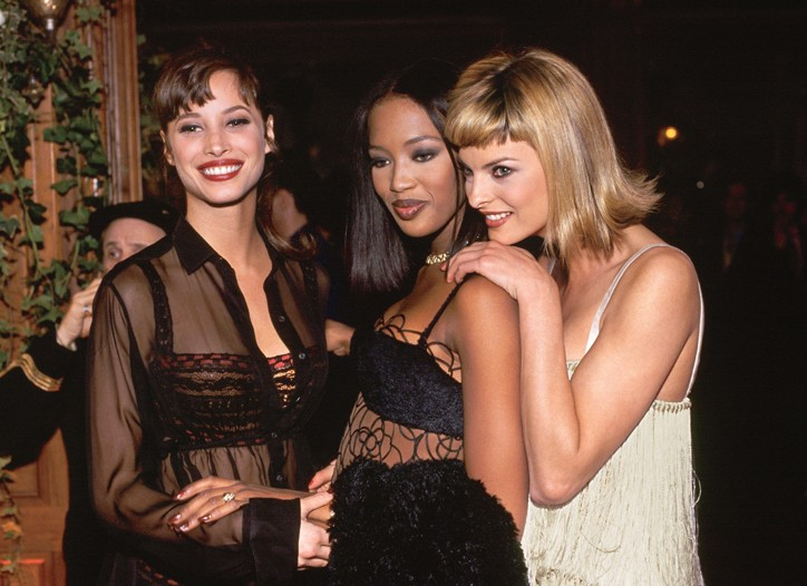 Christy Turlington, Naomi Campbell and Linda Evangelista in 1994.