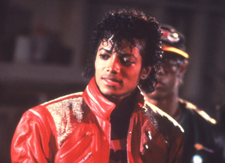 Michael Jackson in 1983 making the Beat It video.