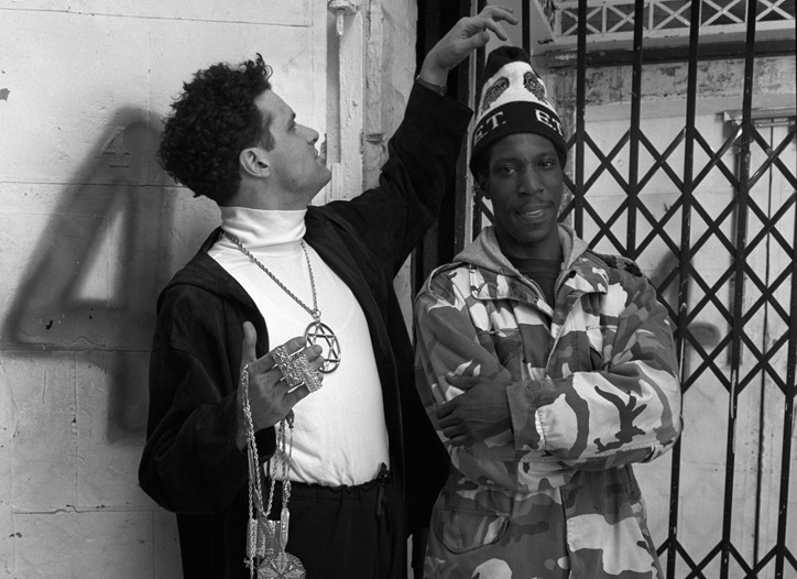 Isaac Mizrahi decks out Arthur Hubbert in his take on hip-hop in 1991.