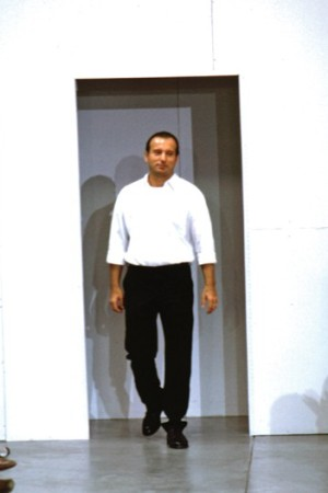 Helmut Lang on his spring 1999 runway.