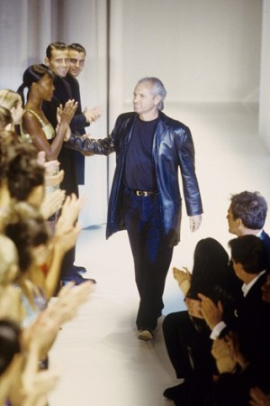 Gianni Versace at his fall 1997 show.