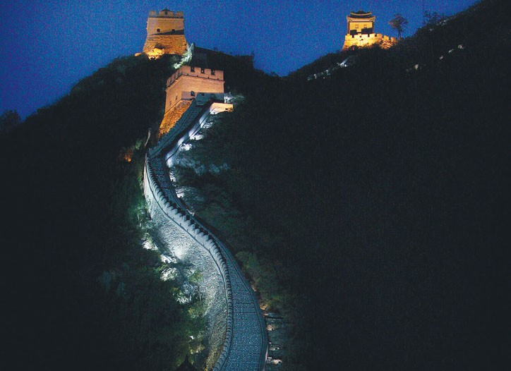 Fendi's show on the Great Wall outside of Beijing, 2007.