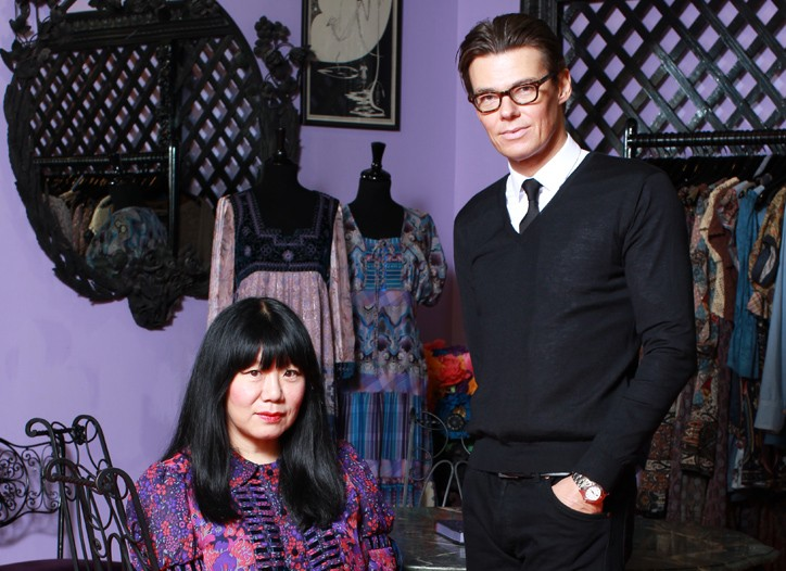 Anna Sui and Andrew Bolton