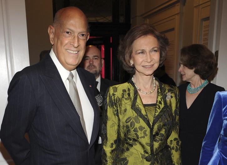 Oscar de la Renta and Queen Sofía