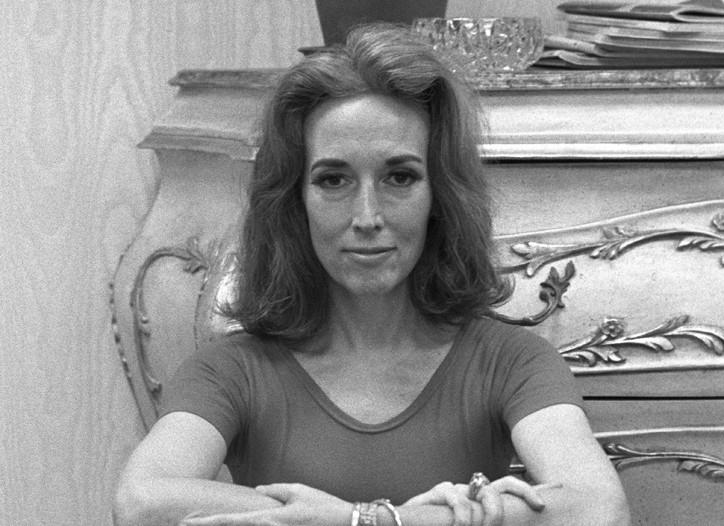 Helen Gurley Brown exercising in her office on June 29, 1970.