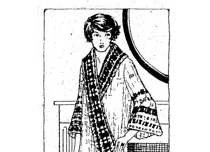 A WWD kimono sketch.