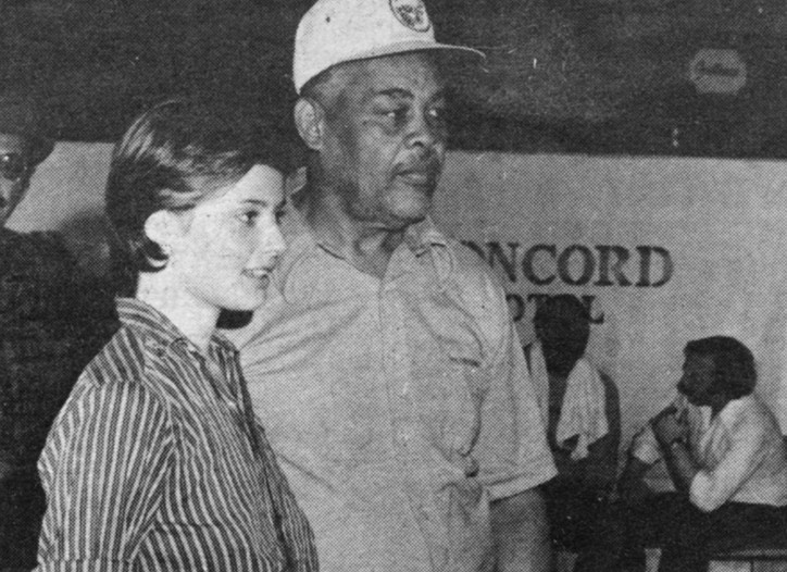 Isabella Rossellini and boxing champion Joe Louis.