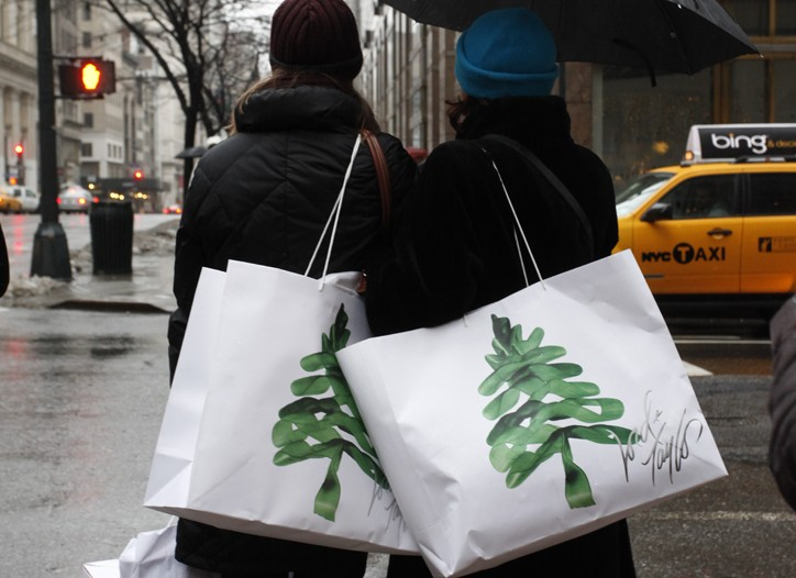 Lord & Taylor shoppers in Manhattan.