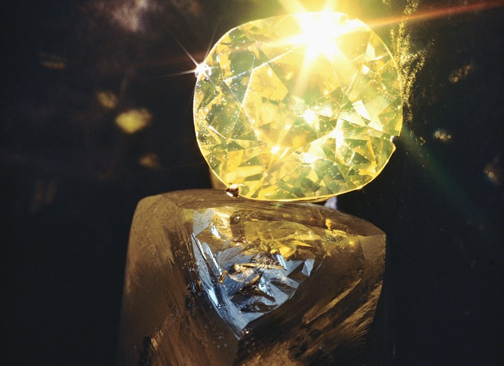 Colored diamonds are the rarest and most expensive rocks on the market.