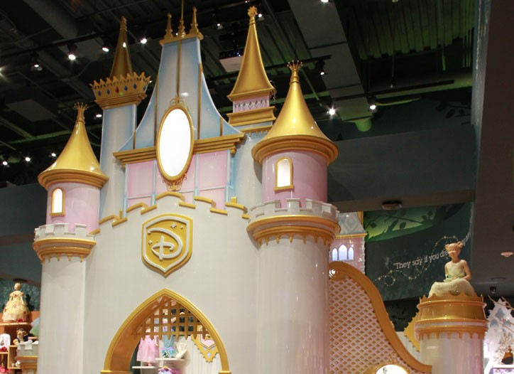 Inside the Disney store in Times Square.
