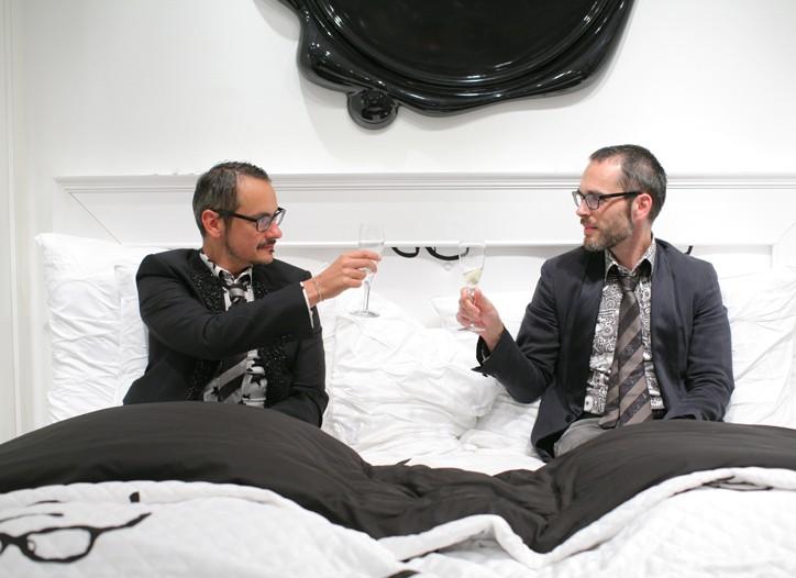 Viktor Horsting and Rolf Snoeren at Saks Fifth Avenue.