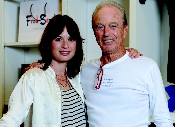 Annie and Fred Segal at Fred Segal Santa Monica.