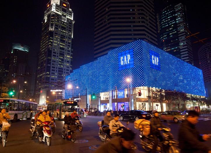 Gap's new flagship in Shanghai.