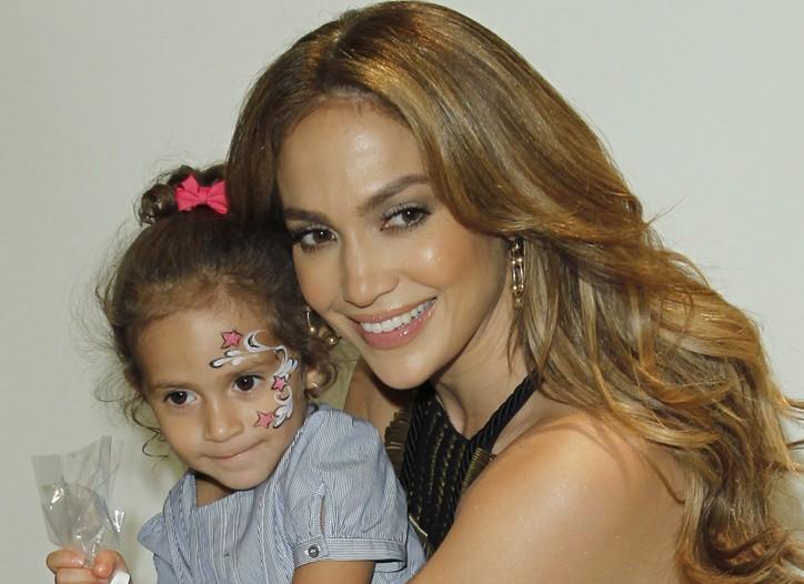 Jennifer Lopez and daughter Emme.