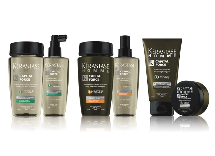 The Kérastase Homme Capital Force collection.