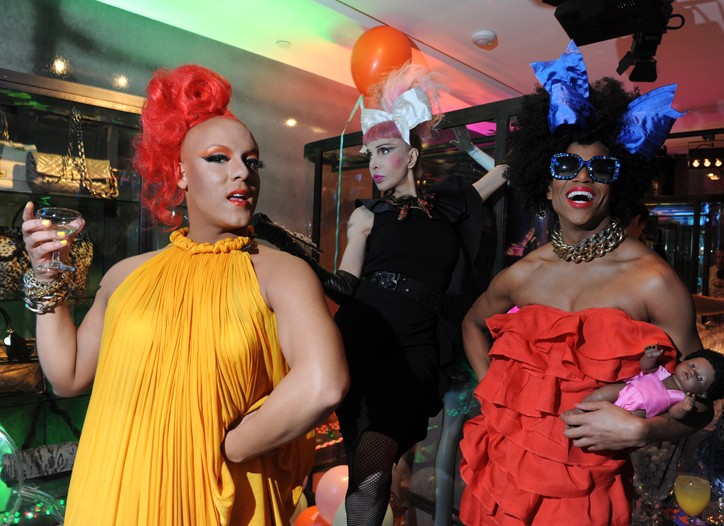 The Lanvin Dolls, from left, Erickatoure Aviance, Sophia Lamar and Koko Aviance.
