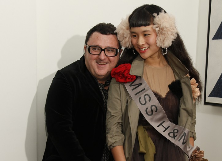 Alber Elbaz and Asia Chow in a preview for Lanvin for H&M.