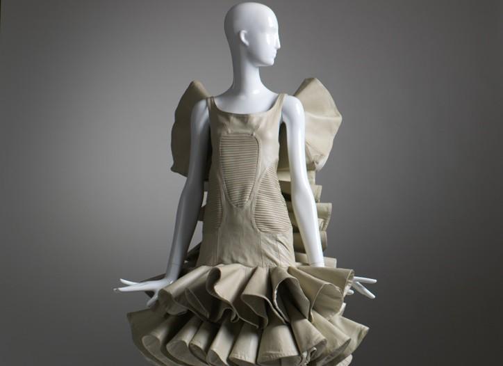 An Alexander McQueen dress from spring-summer 2002