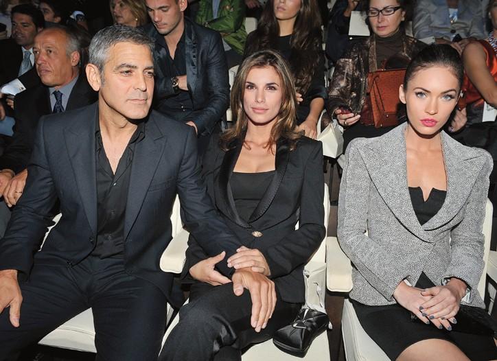 George Clooney, Elisabetta Canalis and Megan Fox at Giorgio Armani.