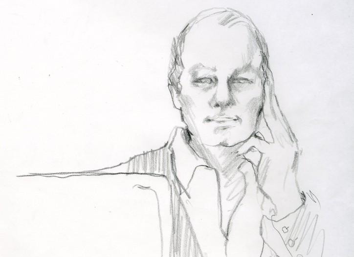 Editor in Chief Edward Nardoza as illustrated by Steven Stipelman.