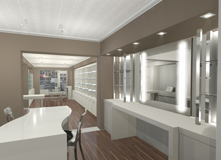 A rendering of the new Space NK.