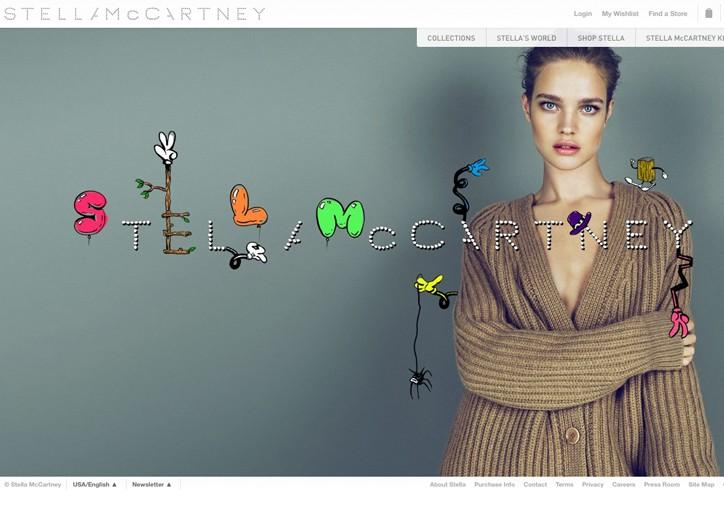The redesigned Stella McCartney Web site.