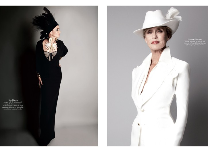 Lisa Eisner and Lauren Hutton in Tom Ford, photographed by the designer.