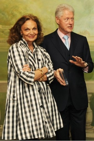 Diane von Furstenberg and Bill Clinton