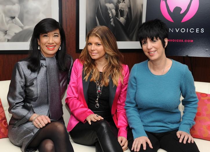 Andrea Jung, Fergie and Diane Warren