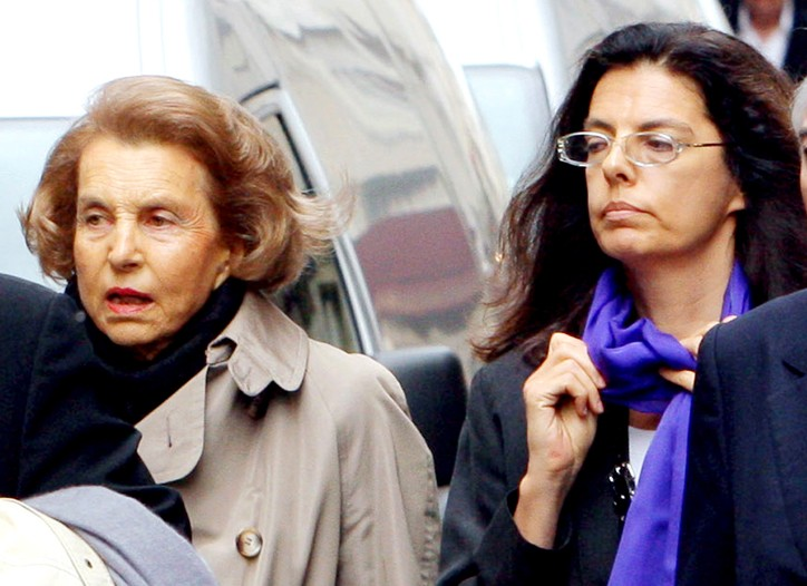 Liliane Bettencourt  and Françoise Bettencourt Meyers in 2007.