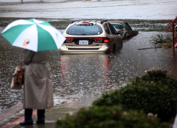 Strong storms have battered much of Southern California.
