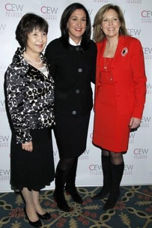 Kimie Iwata, Heidi Manheimer and Virginia Drosos.