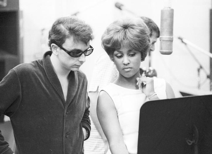 Phil Spector and Darlene Love in 1963.