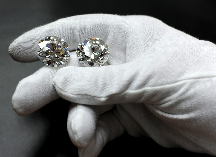 Steinmetz Diamonds' brilliant-cut stones, christened Yin Yang, at 35 carats each.